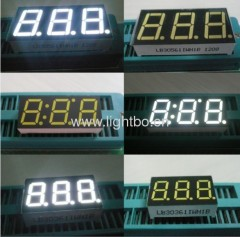 led 7-segment 3 digit white common cathode display ;