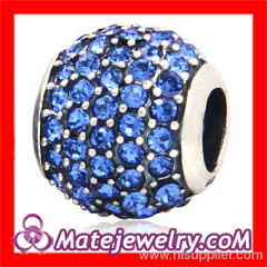 Crystal Sterling Silver Beads