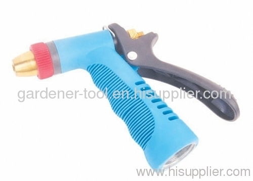 Aluminium garden trigger nozzle for water spray.