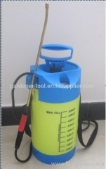 5L Knapsack manual water pressure spray with pressure gauge