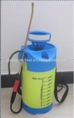 5L Knapsack manual water pressure spray with pressure gauge
