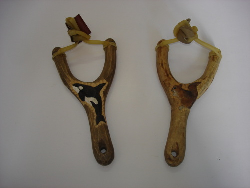 Wooden Carved Animal Slingshot