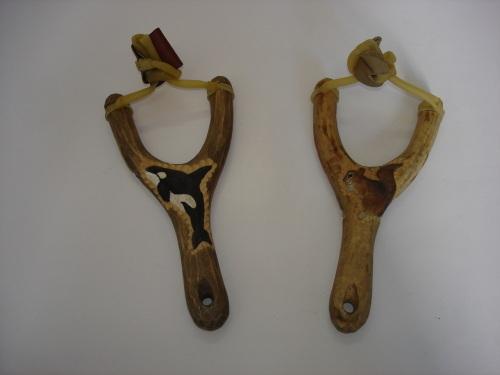 Wooden Carved Animal Slingshot