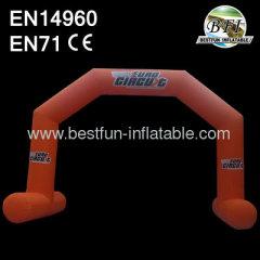 Orange 2014 New Advertising Promotional Inflatable Arch Door