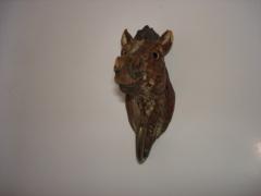 pine wood carved hook