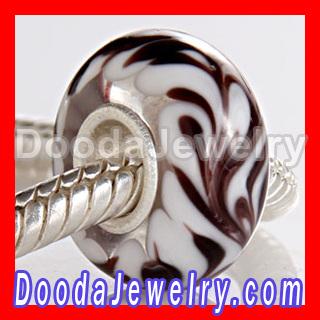 925 Silver Core MURANO GLASS BEAD fit european Charm Bracelet