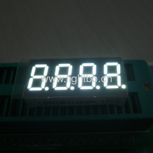 4 digit 0.36 inch common cathode ultra bright white 7 segment led display