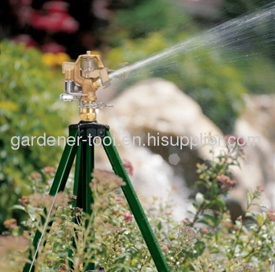 Telescoping Tripod Sprinkler With Brass Sprinkler Head