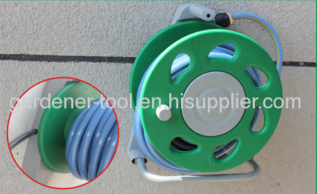 Wall Mounted Hose Reel Set Include hose reel,zinc hose nozzle,brass connector and PVC Garden Hose
