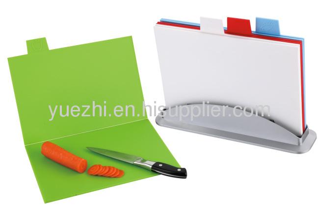 4pcs index chopping board (folding and un-folding each 2pcs)