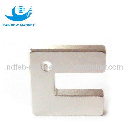 OEM magnetic NdFeB magnet with irregular door shape