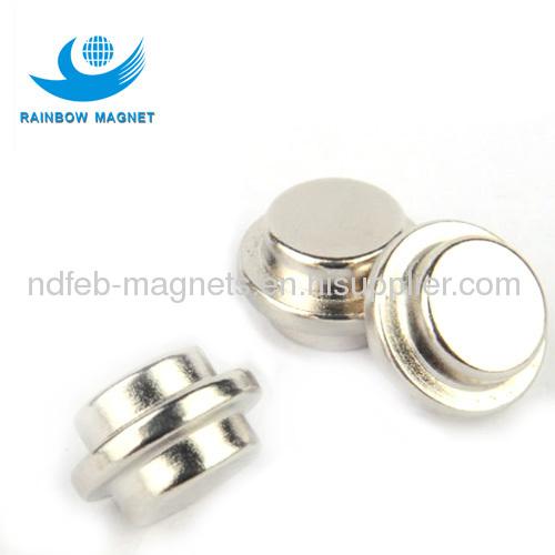sintered ndfeb round button neodymium magnet
