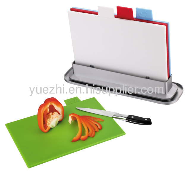 4pcs index cutting board with water pan