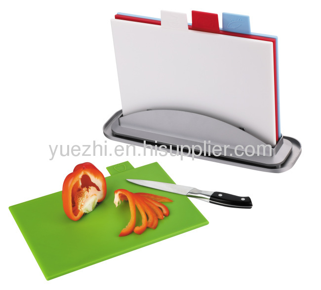 4pcs index chopping board with water pan easy washed