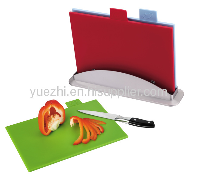 color coded 3pcs index chopping board