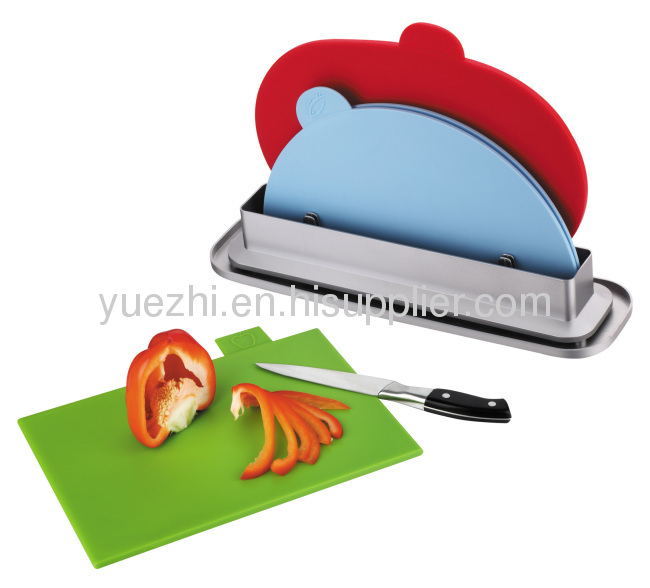 3pcs index chopping board with water pan ( 1pc folding and 2pcs un-folding )