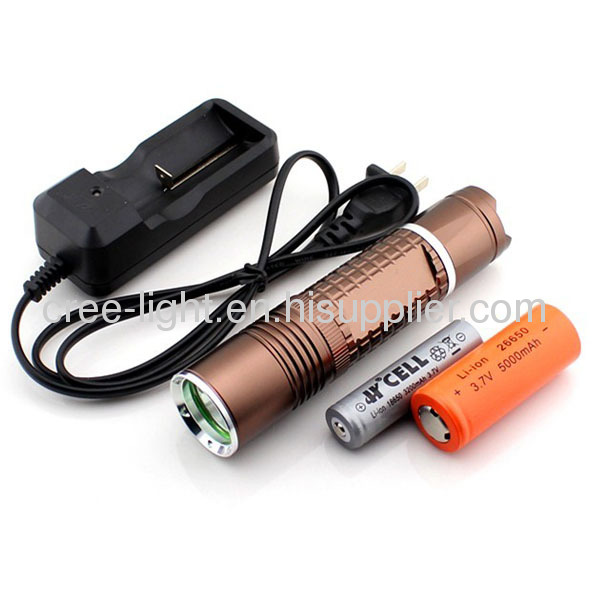 18650 OR 26650 Rechargeable Battery Used High Power Portable LED Flashlight With CREE XML T6 Bulb ACK-1166