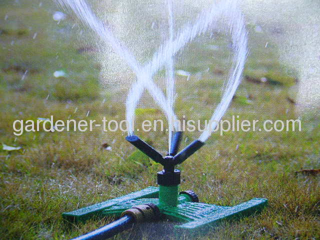 3-arm roraty water sprinkler with H Base