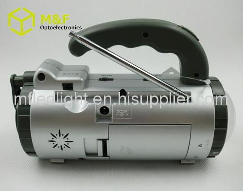 dynamo hand crank flashlight radio