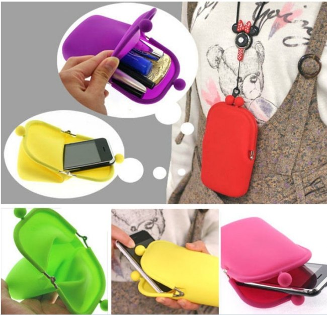 Fashion New Jelly Rubber Silicone Cosmetic Makeup Bag Coin Purses