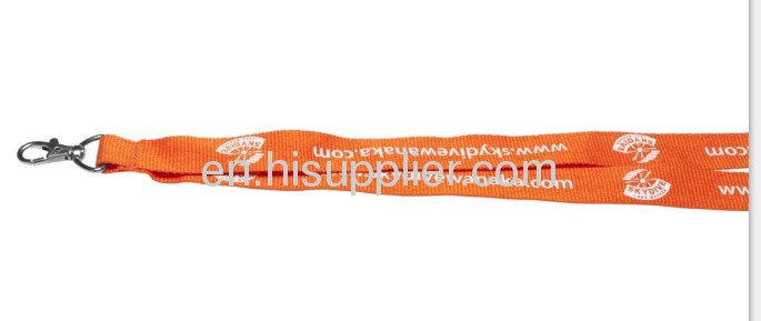 2.0cm wide,polyester ribbed style, silkscreen printed,swivel hook end