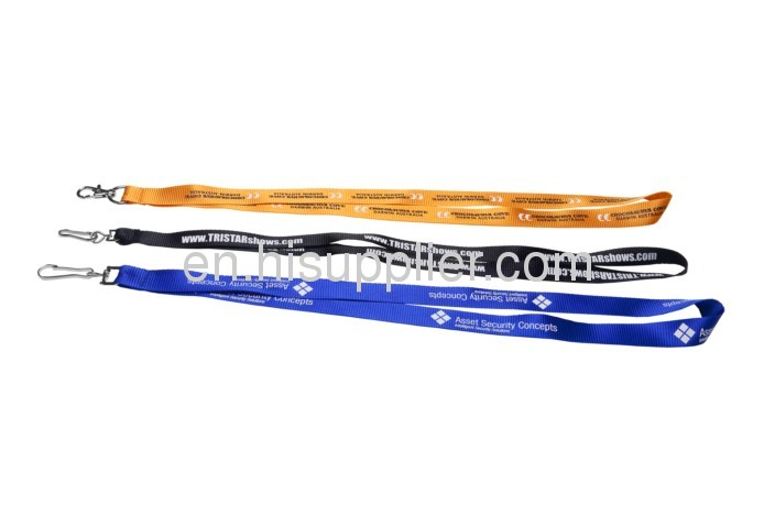 15-20mm Nylon lanyards with silkscreen printing,