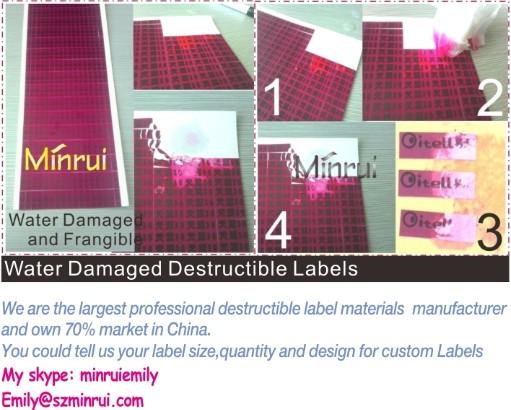 Custom round date warranty stickers for cellphones,date warranty labels