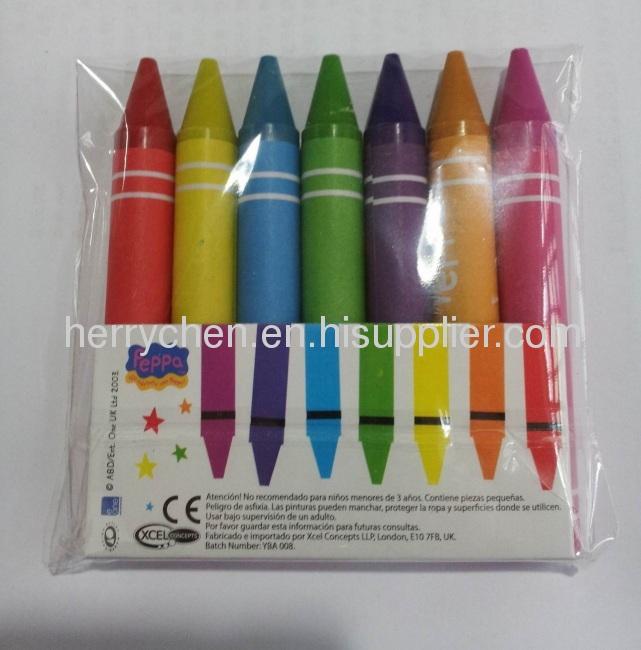 7pk Peppa brand 9/16x 4 1/8jumbo crayon