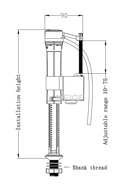 Bottom Inlet Fill Valve