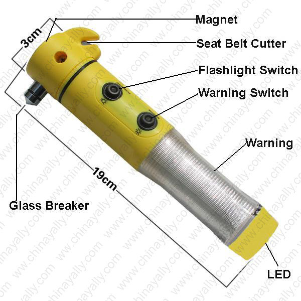Car Safety Hammer Light/Car Emergency Safety light