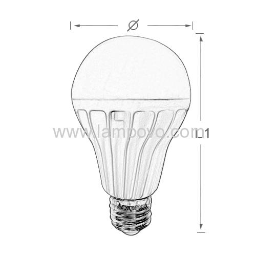 11W E27 Led bulb light