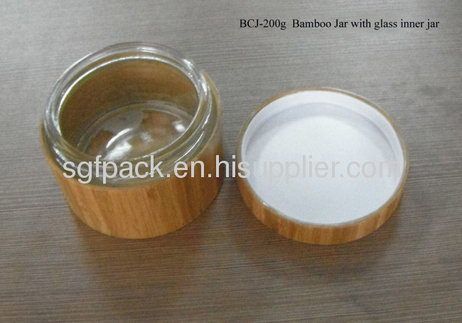 Naturel bamboo package 200g bamboo jar cream jar makeup containers