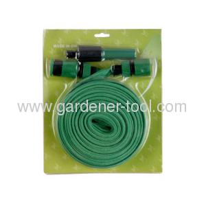 15M/50FT Flat Garden Hose With 2-function hose nozzle set