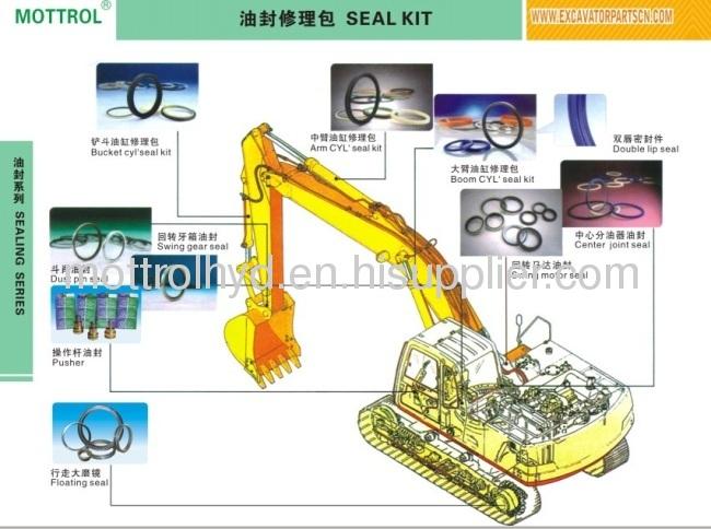 R210-7 Swing Motor M2X150 Seal Kit
