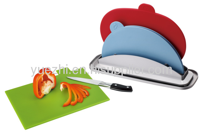 3pcs index chopping board with water pan (1pc folding and 2pcs un-folding)