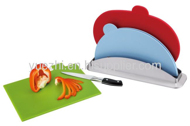 3pcs index chopping board (1pc folding and 2pcs un-folding )