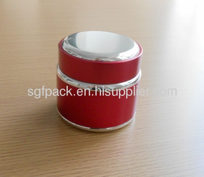 Aluminum package Anodized Aluminum container cream jar 200g double wall jar inner plastic jar personal care Hot sale