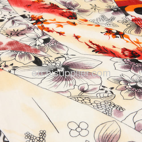 100% Cashmere Wool Textile Printing Large Square Scarves