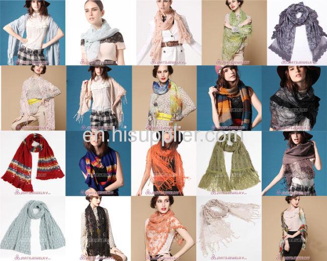 Large Cashmere Wool Square Scarf Fashion Hijab Scarf 2013