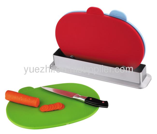 oval shape 3pcs index cutting board