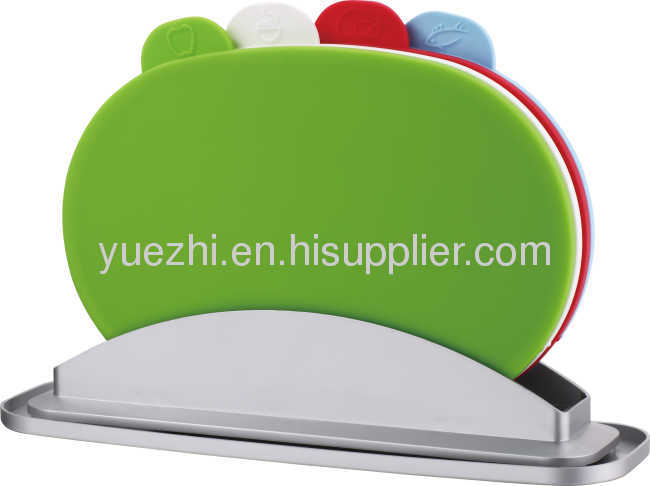 easy washed 4pcs index chopping board with water pan