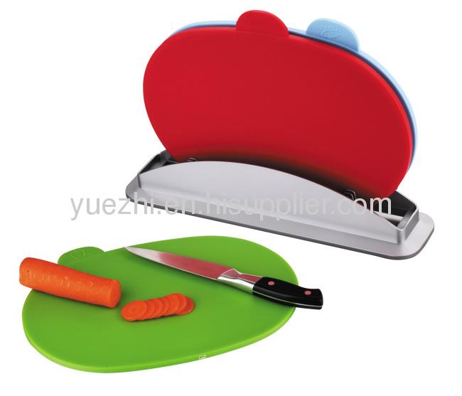 oval shape 3pcs index chopping board