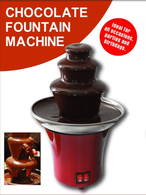 37W mini chocolate fondue fountain