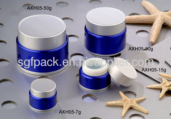 Aluminum package High-grade Anodized Aluminum container cream jar Hot sale Cosmetic container day cream jar
