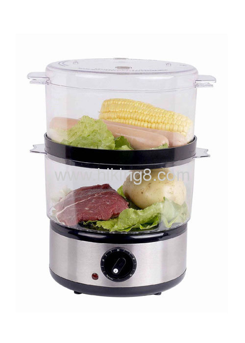 2- layer plastic Food steamerwith 400W