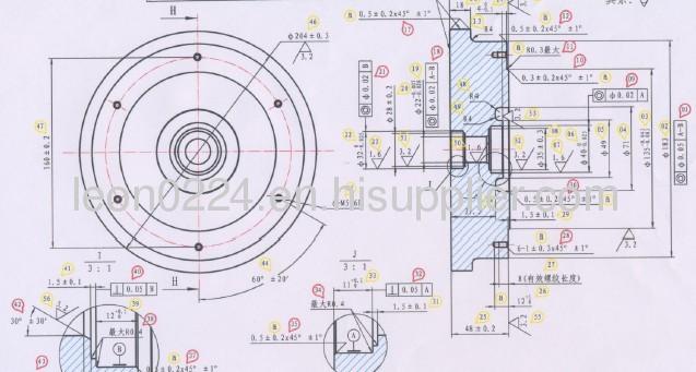 fittness bike precision components flywheel/handwheel