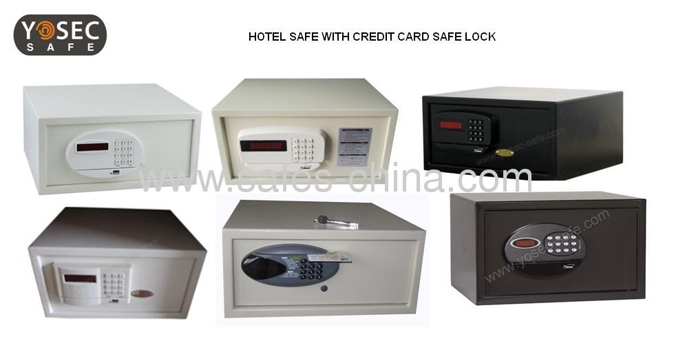 Magnetic card hotel safe