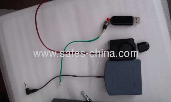 Touch screen safe lock for hidden safe