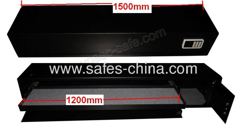 Hidden car gun safe/ gunsafe box for car