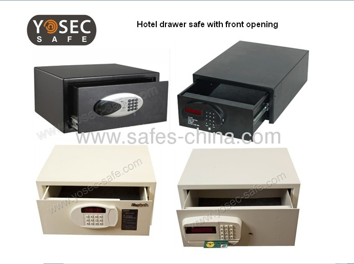 Front opening drawer safes